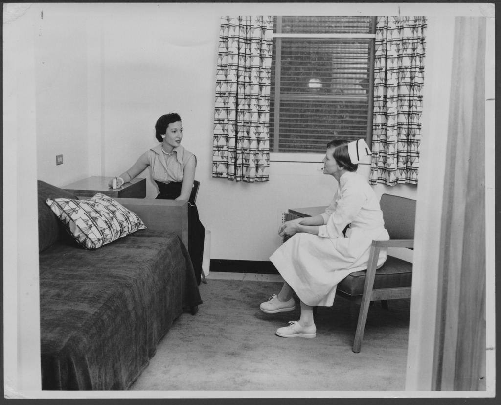 Patient's room at the C.F. Memorial Hospital in Topeka, Kansas