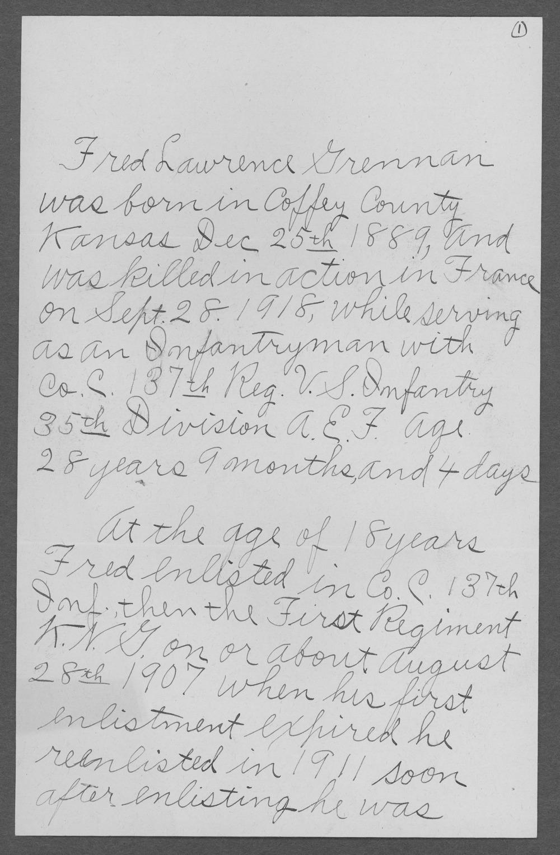 Fred Lawrence Grennan, World War I soldier - 6