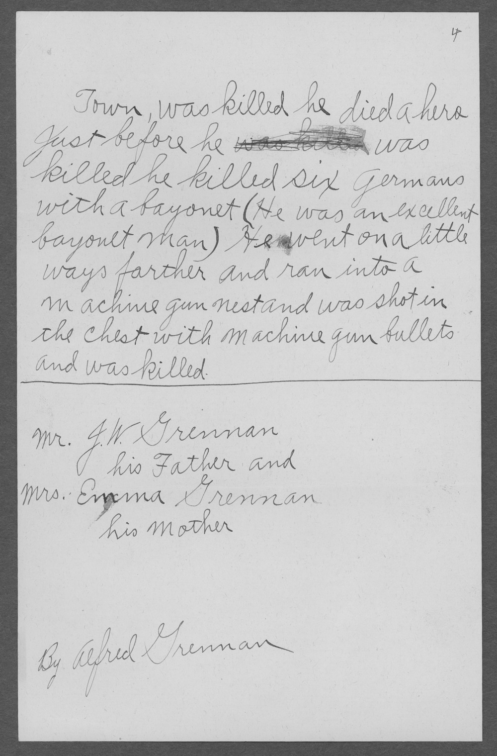Fred Lawrence Grennan, World War I soldier - 9