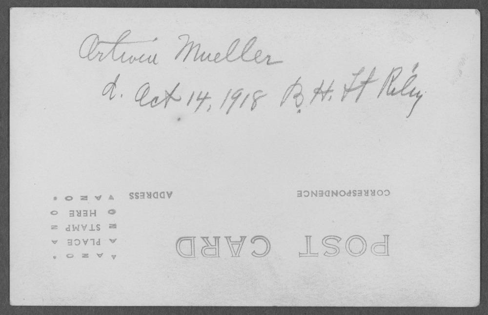 Ortwin Mueller, World War I soldier - 2