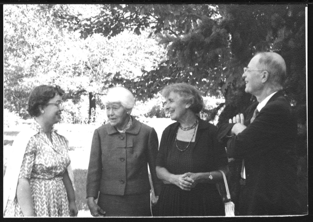 Anna Freud and others at the Topeka Institute for Psychoanalysis 20th anniversary, Topeka, Kansas