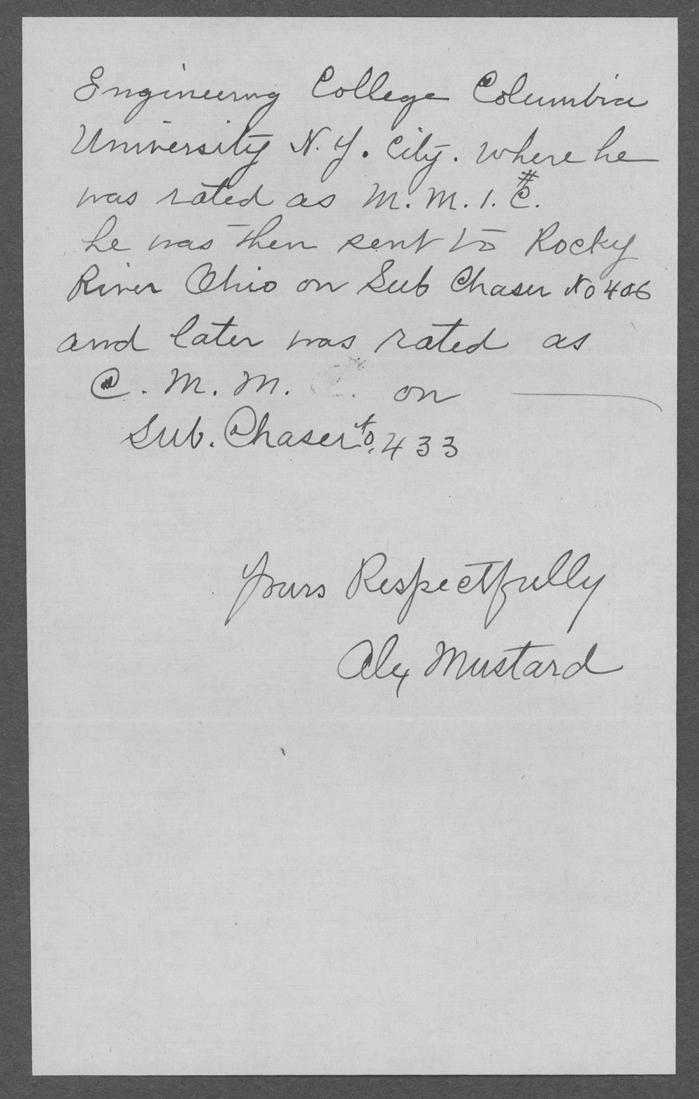 Henry George Mustard, World War I soldier - 5