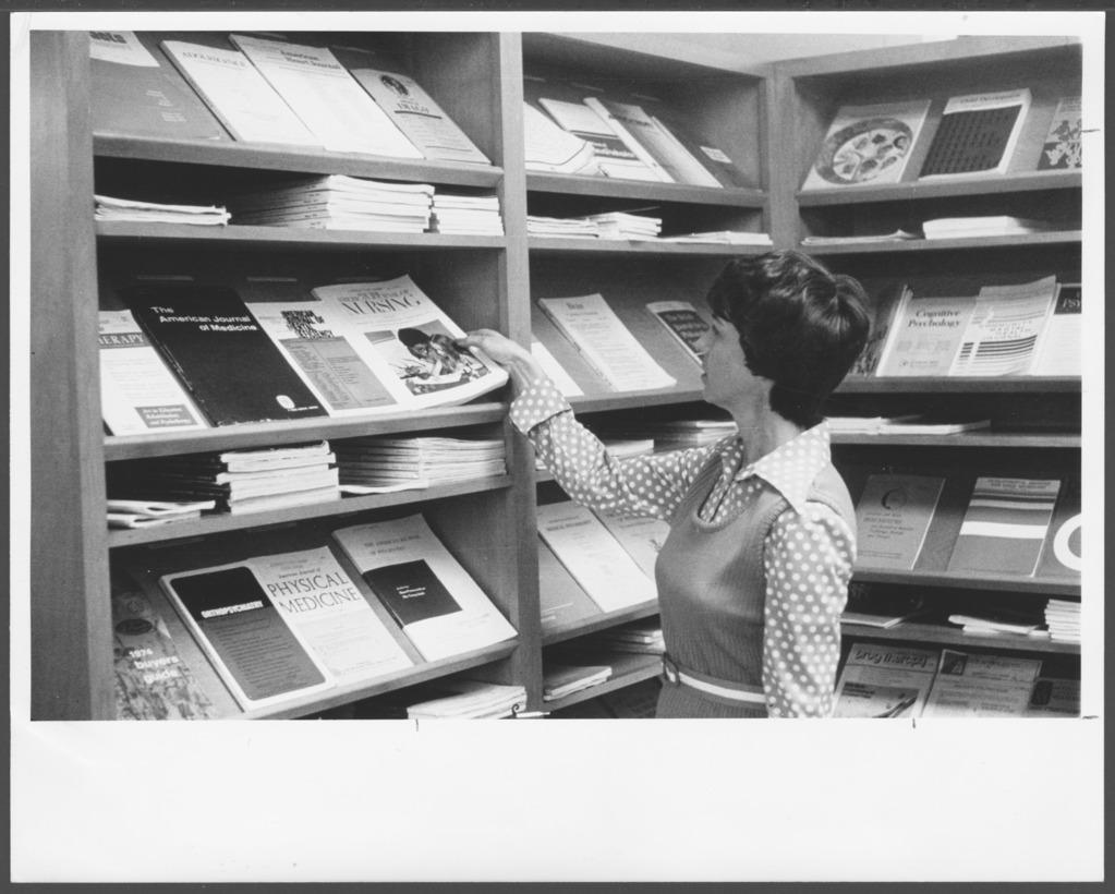 Professional library at the Menninger Clinic, Topeka, Kansas