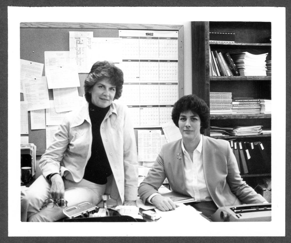 Kay Stoner and Jackie Salsbury at the Menninger Clinic, Topeka, Kansas
