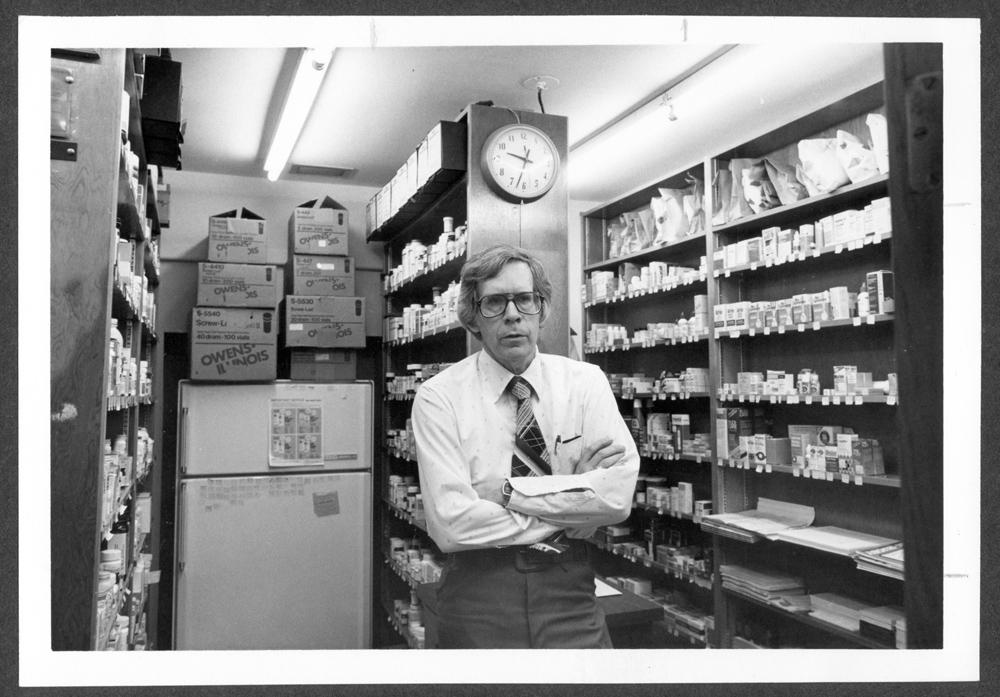 B.D. Ehler, pharmacist at Menninger Clinic, Topeka, Kansas