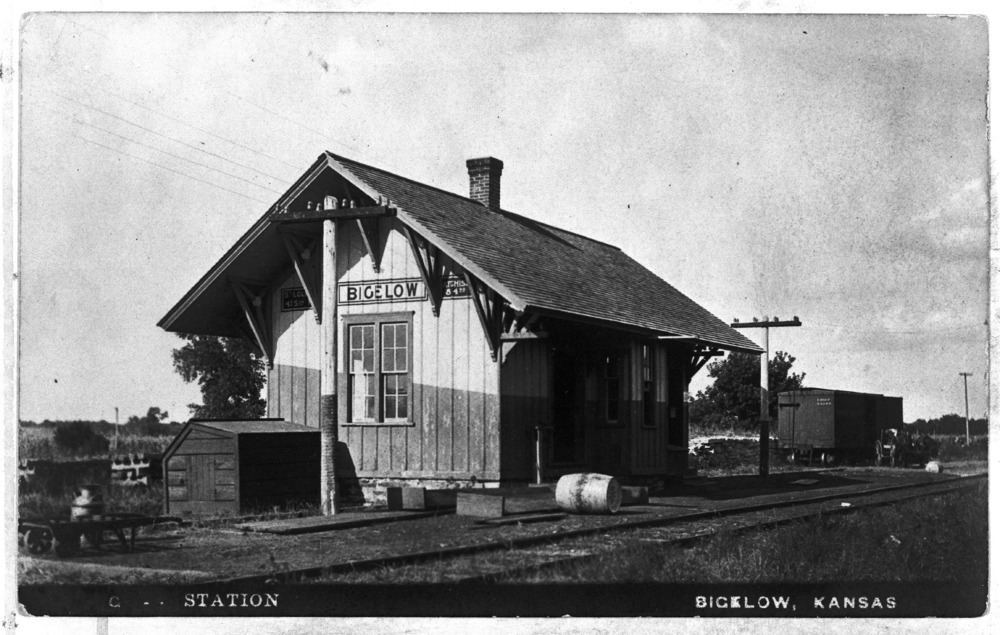 Missouri Pacific Railroad depot, Bigelow, Kansas