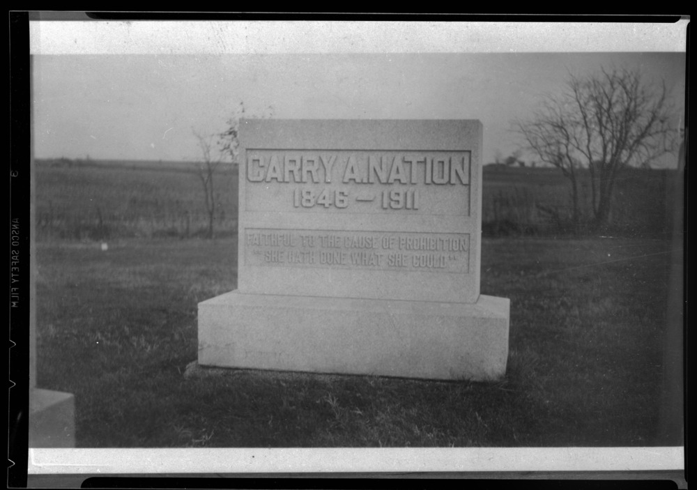Carry Nation's tombstone in Belton, Missouri