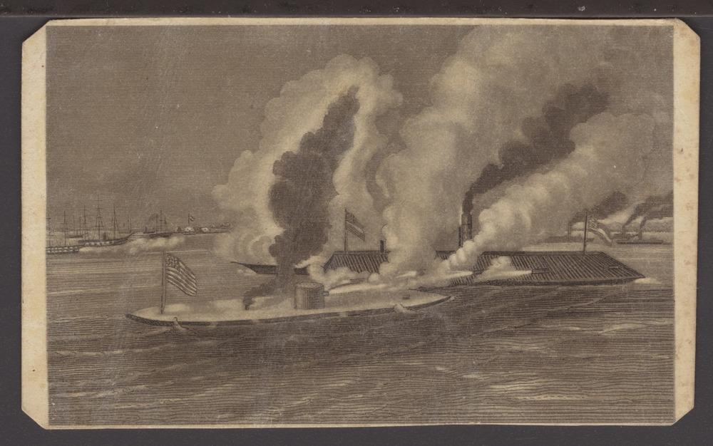 Monitor and Merrimack battleships - 1