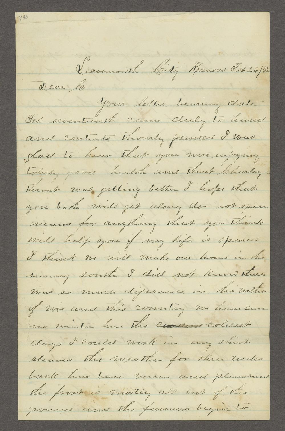 Aiken J. Sexton correspondence - 1