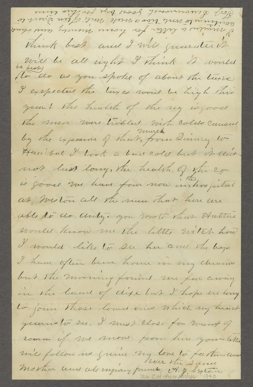 Aiken J. Sexton correspondence - 4