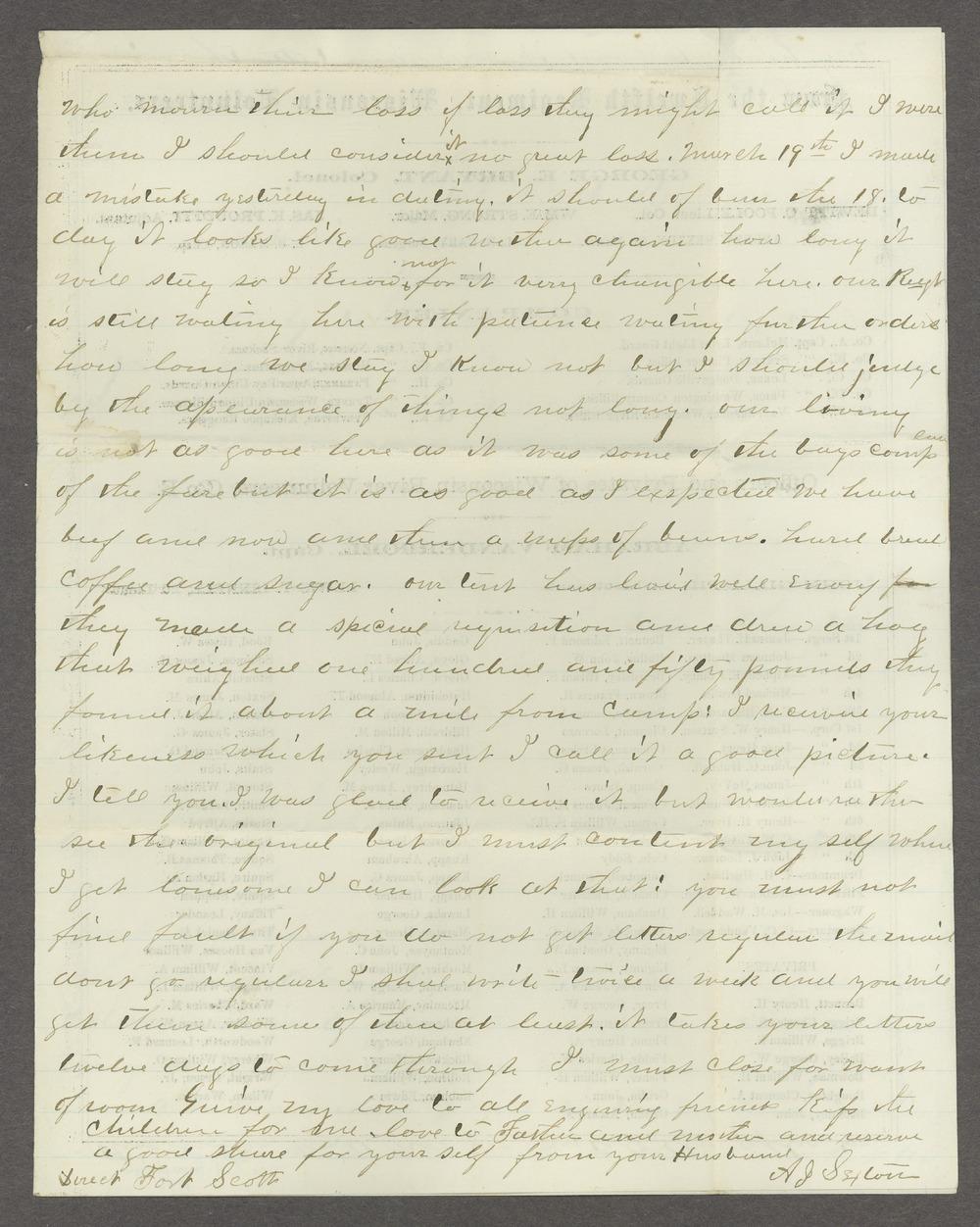 Aiken J. Sexton correspondence - 7