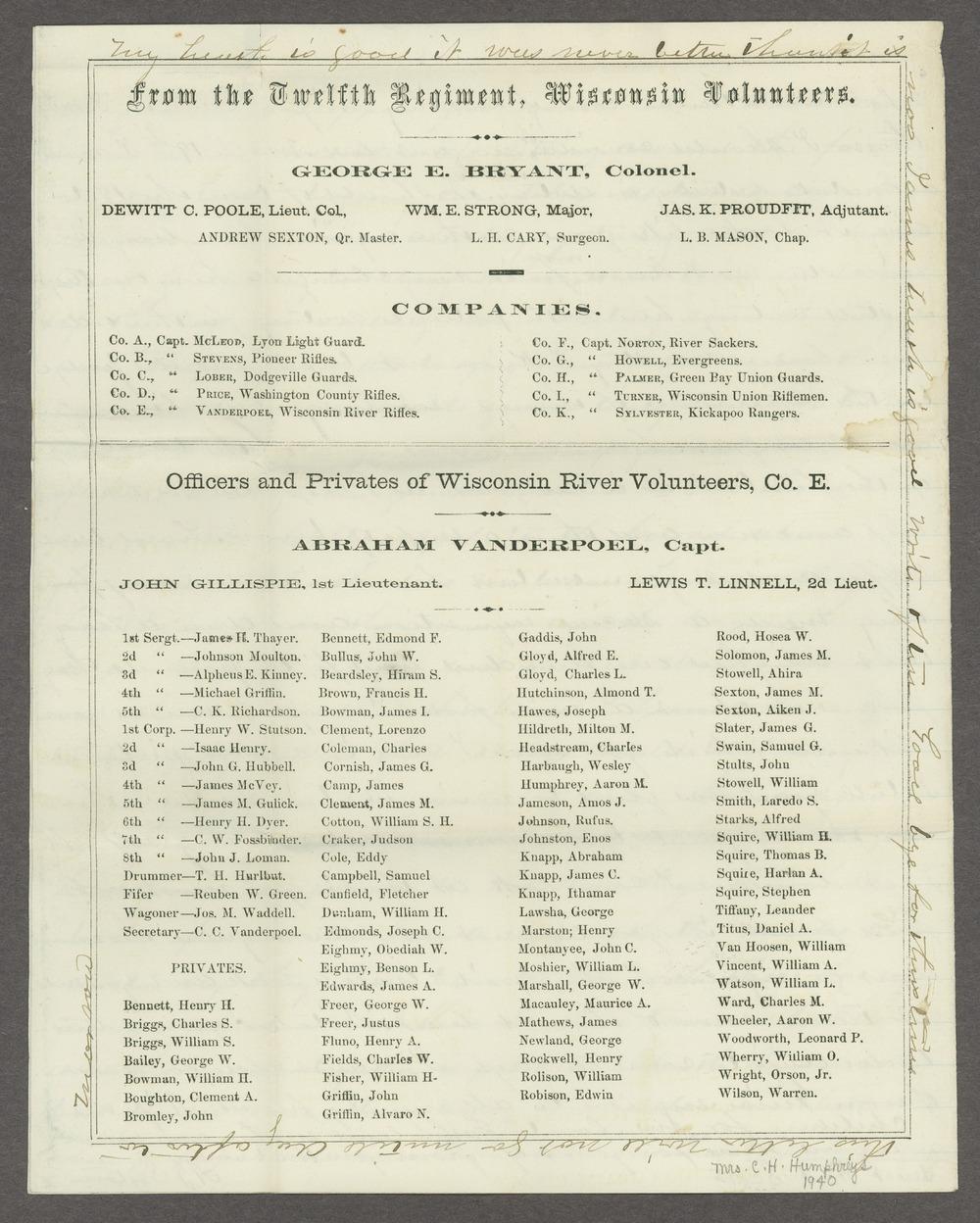 Aiken J. Sexton correspondence - 8