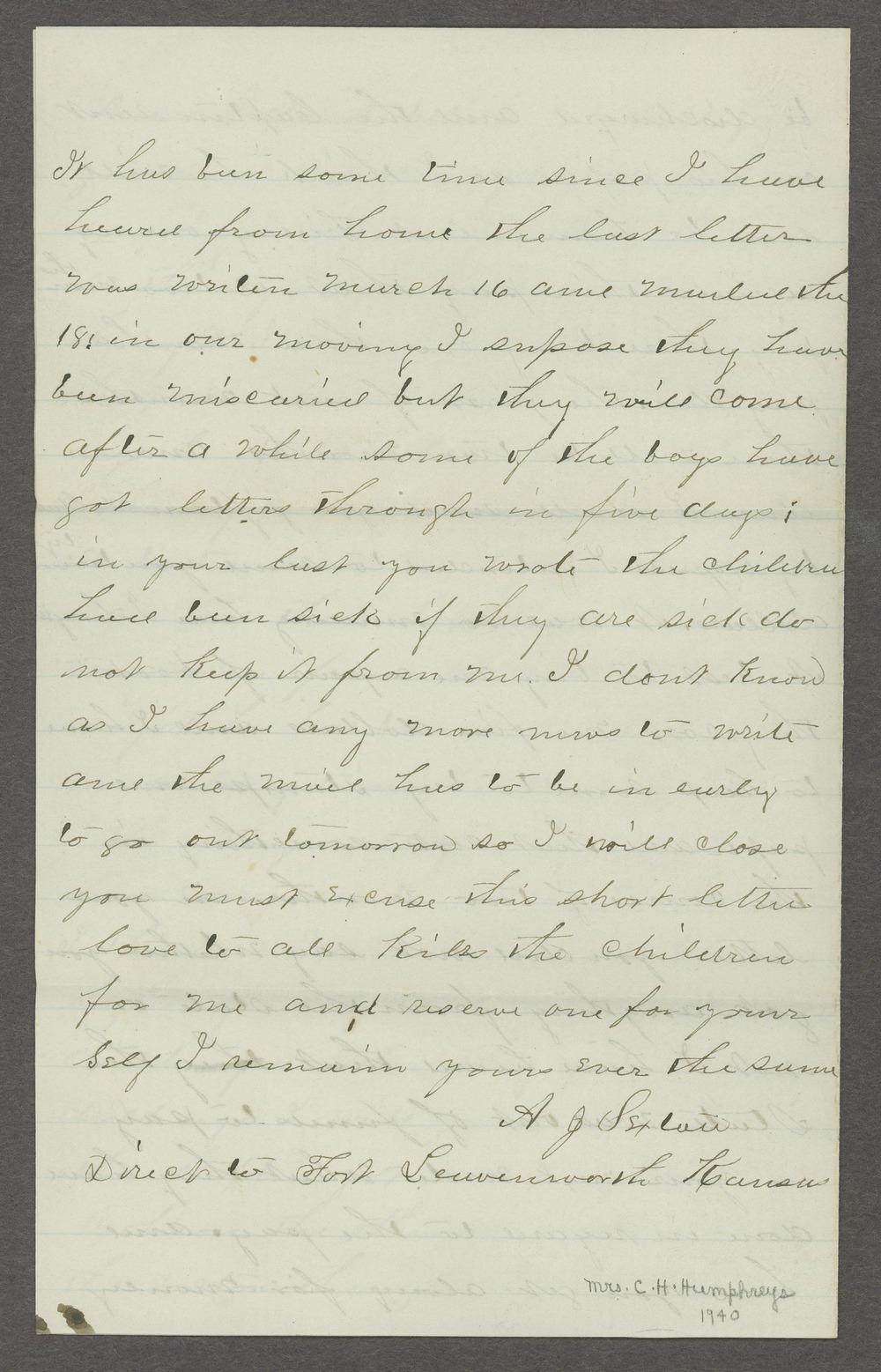 Aiken J. Sexton correspondence - 12