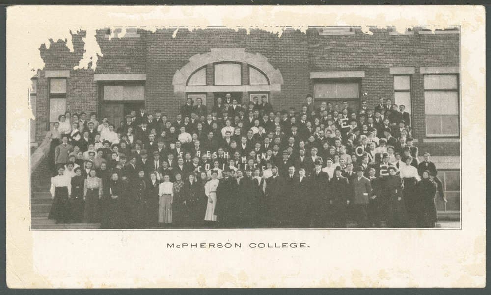 Students at McPherson College in McPherson, Kansas