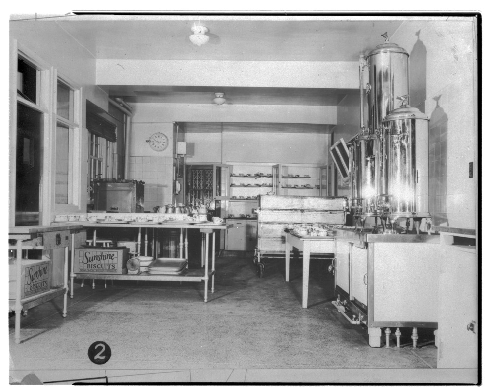 Pantry, kitchen, and dining room of the Security Benefit Association hospital in Topeka, Kansas - 2