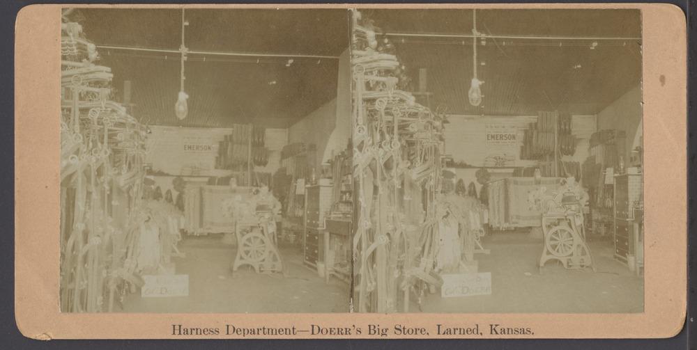 Doerr's Big Store in Larned, Kansas - Harness department at Doerr's Big Store.  *5