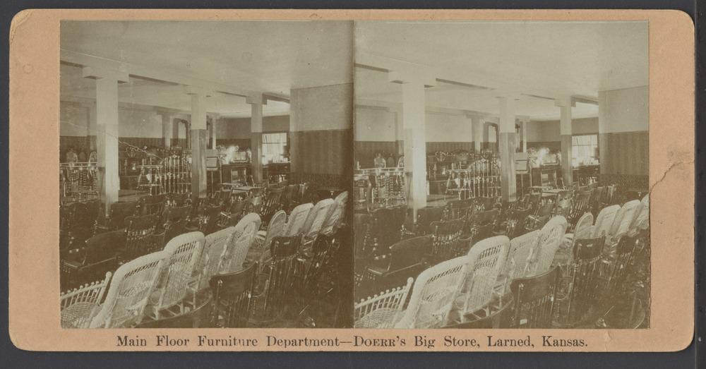 Doerr's Big Store in Larned, Kansas - Main floor in the furniture department at Doerr's Big Store.  *8
