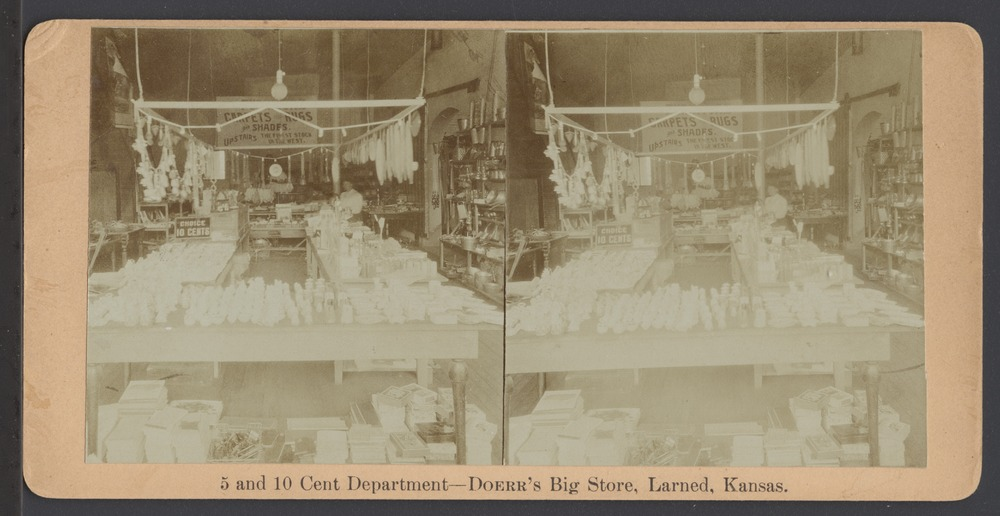 Doerr's Big Store in Larned, Kansas - The 5 and 10 cent department at Doerr's Big Store.  *10
