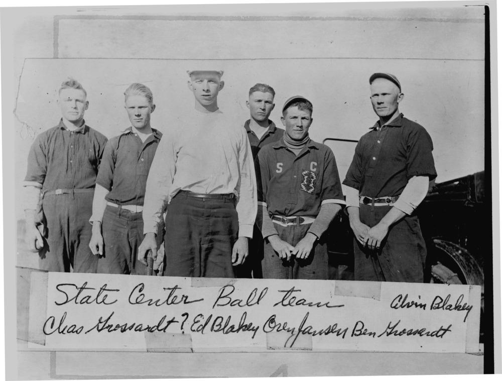 State Center baseball team, Barton County, Kansas
