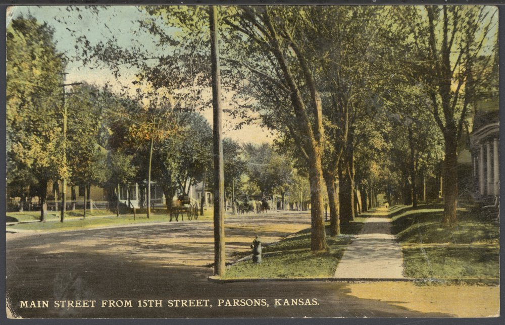 Main Street from 15th Street in Parsons, Kansas - 1
