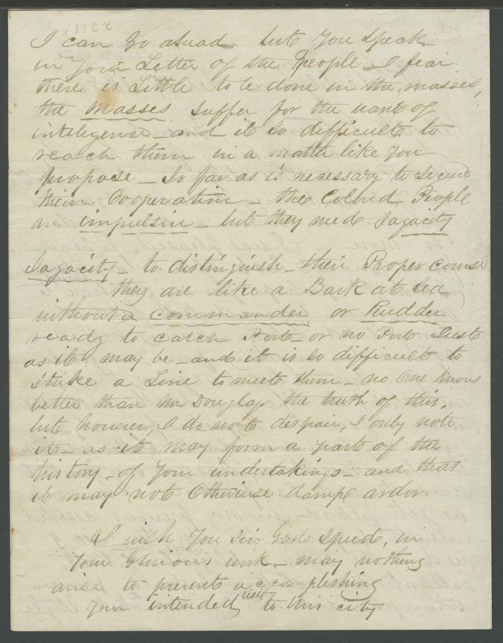 James N. Gloucester to John Brown - 2