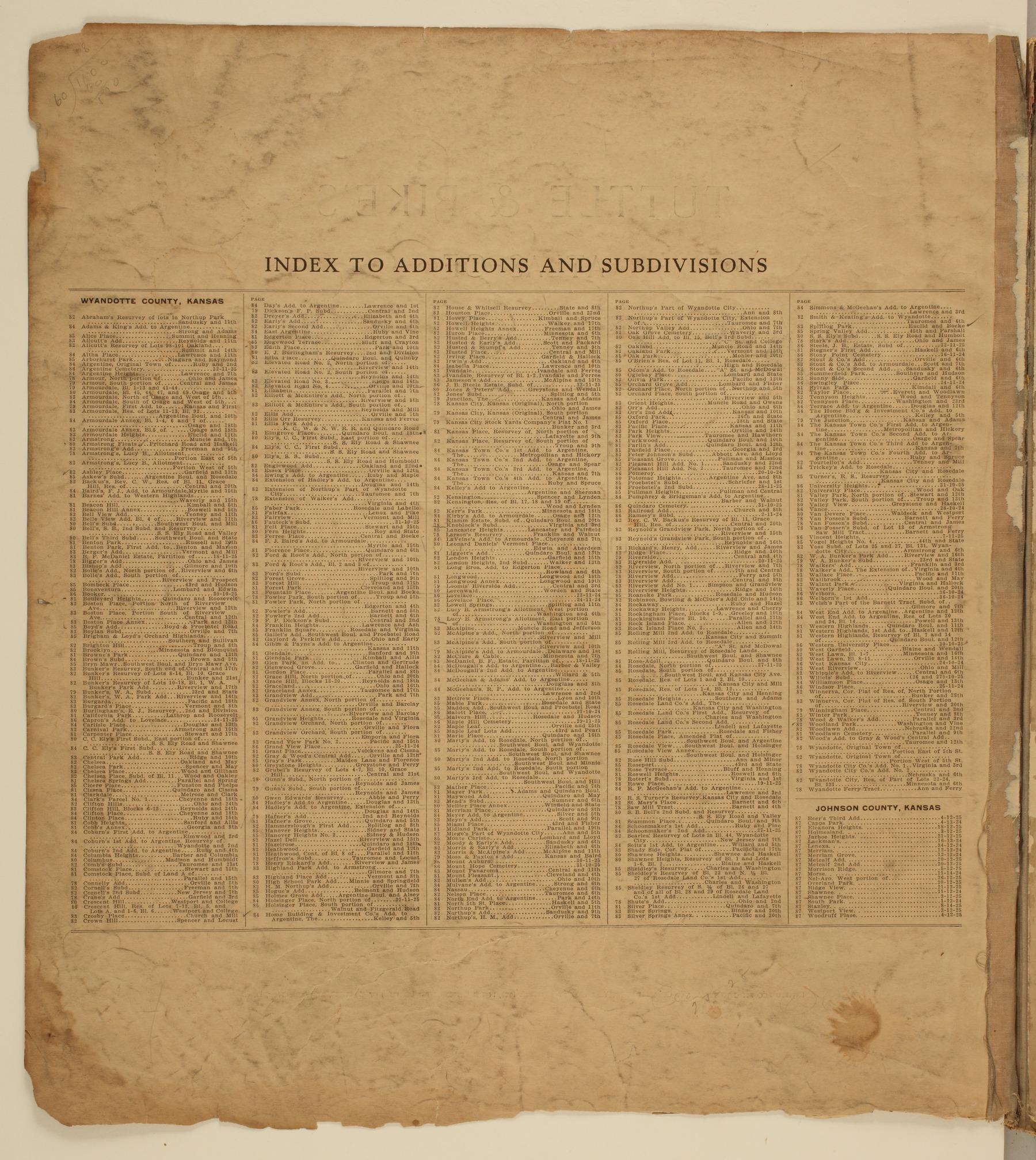 Tuttle and Pike's atlas of Kansas City, Kansas - 2