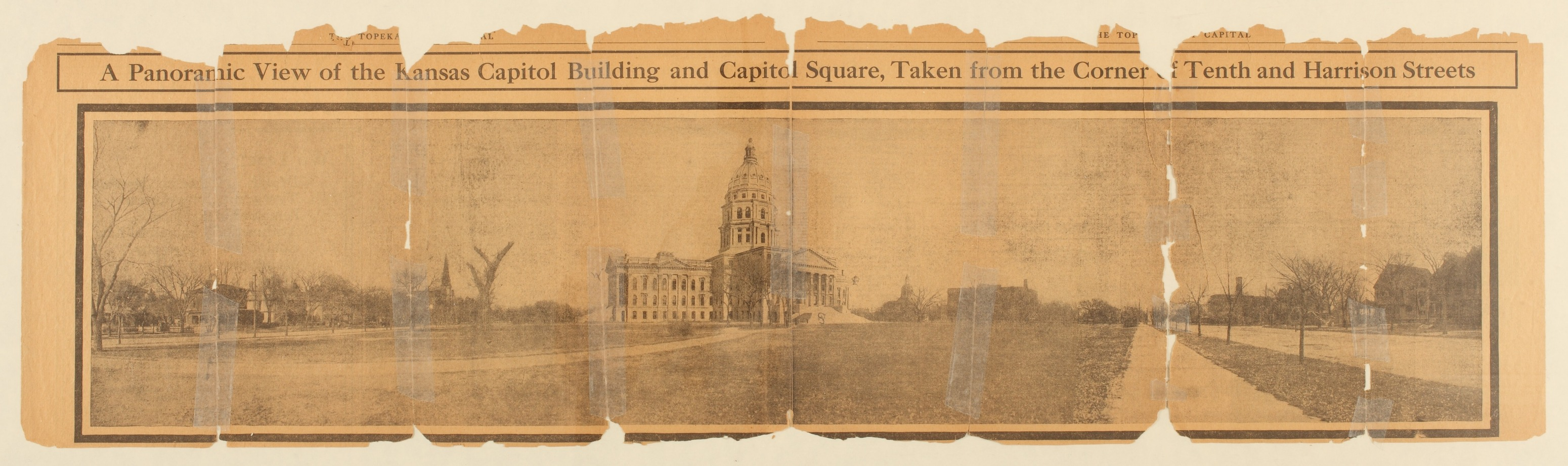 A panoramic view of the Kansas capitol building, Topeka, Kansas
