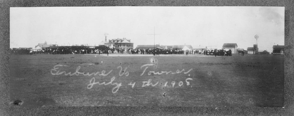 Baseball game, Tribune, Kansas