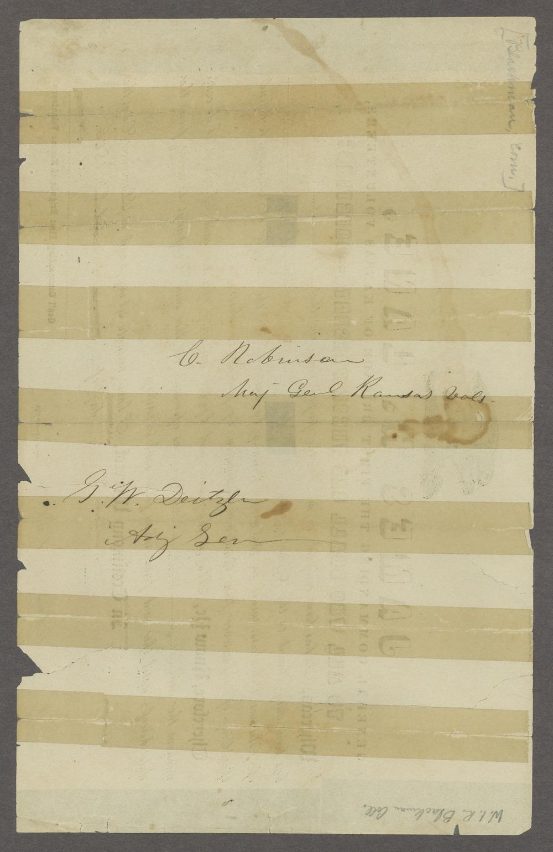 Draft of the Wakarusa treaty - 2