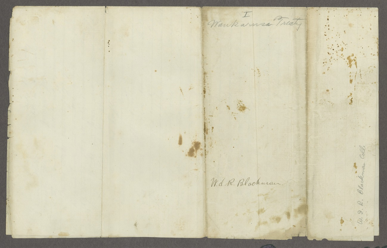 Draft of the Wakarusa treaty - 5