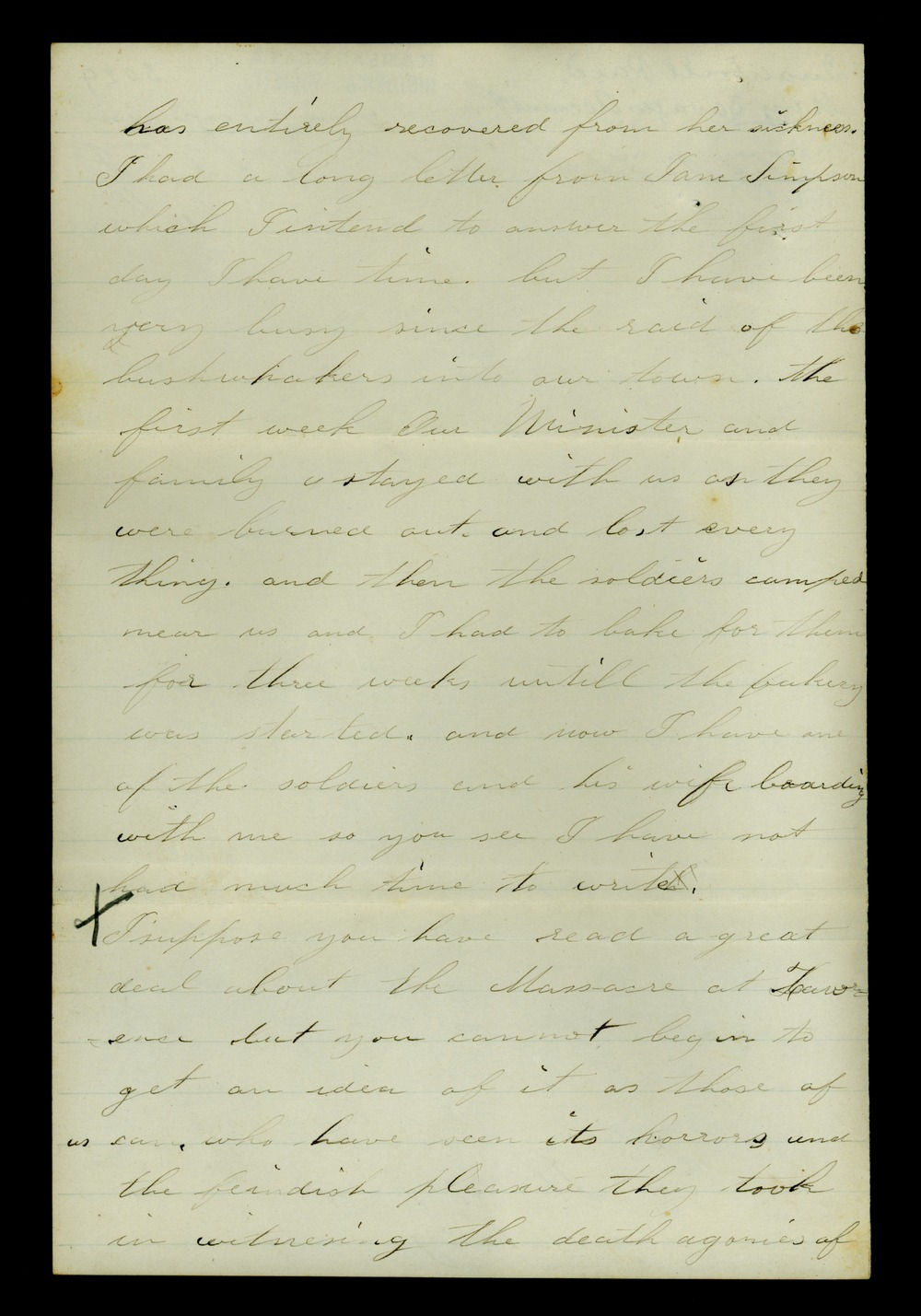 Mary Savage correspondence - 2