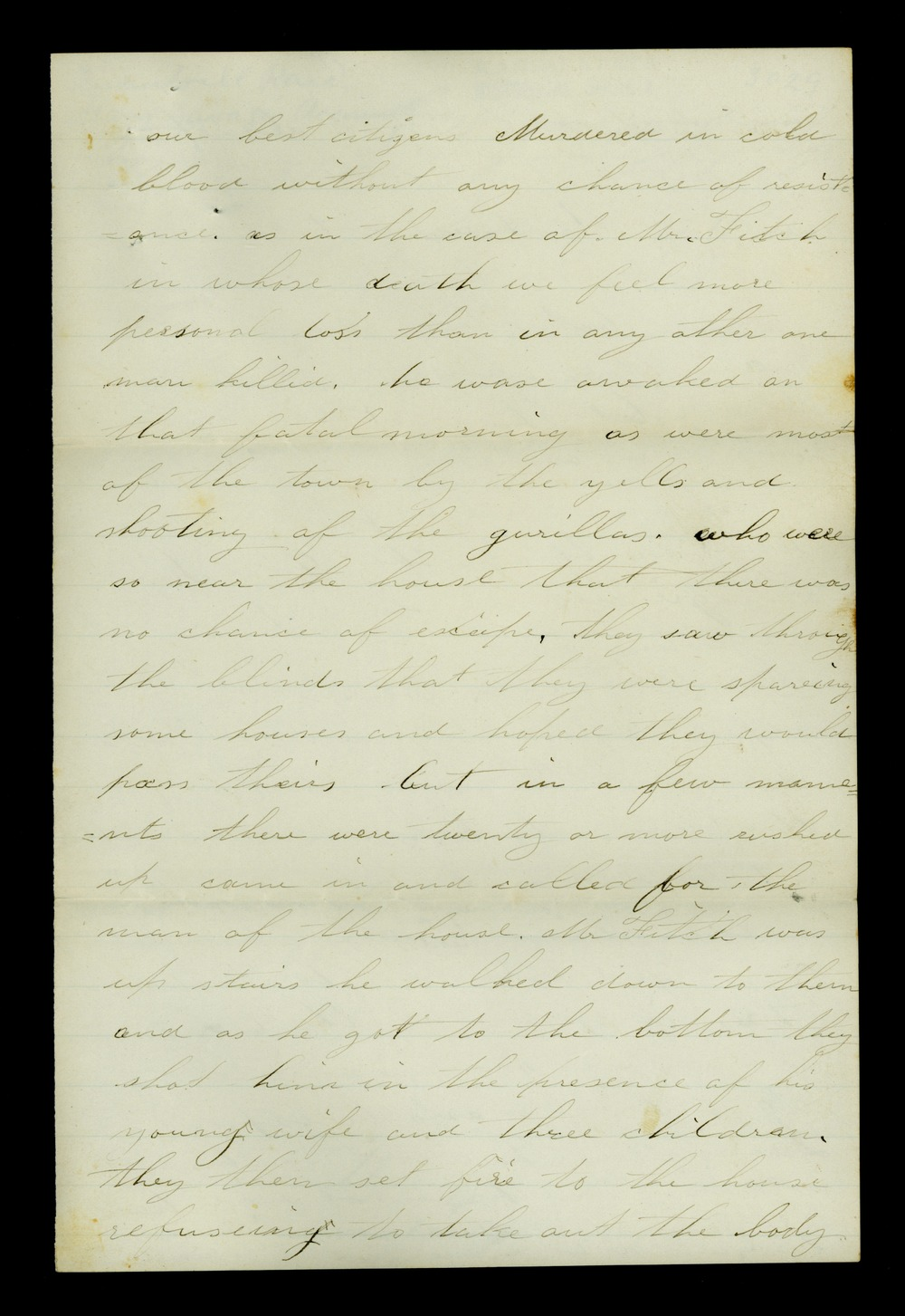 Mary Savage correspondence - 3