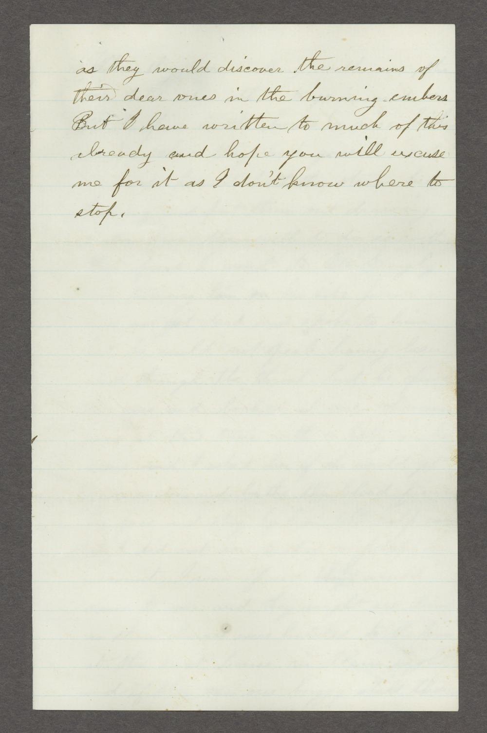 Mary Savage correspondence - 13