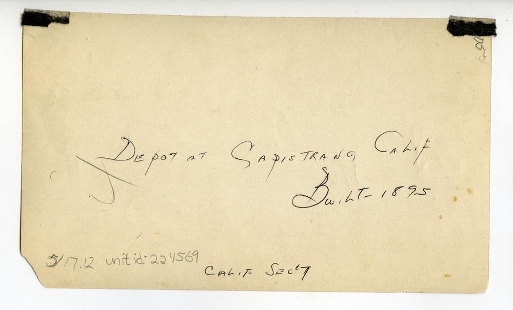 Atchison, Topeka & Santa Fe Railway Company depot, San Juan Capistrano, California - 2
