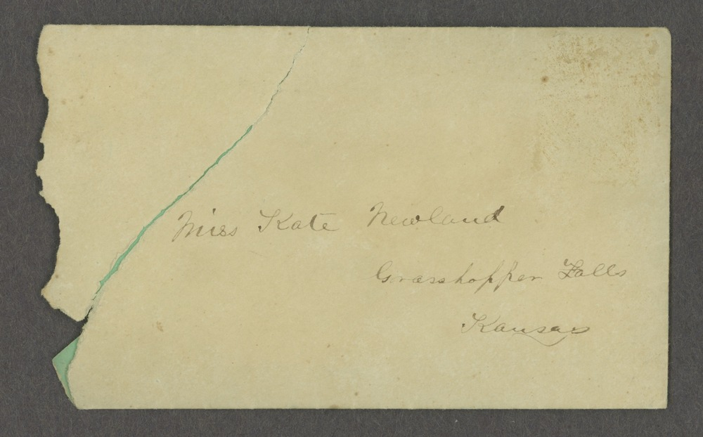 Lewis Stafford to Kate Newland correspondence - 2
