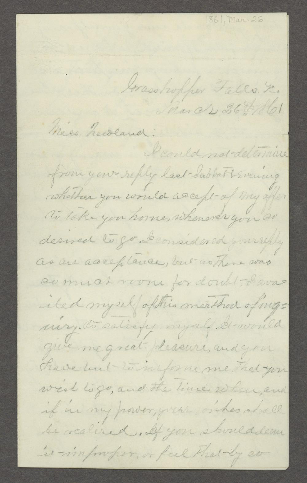 Lewis Stafford to Kate Newland correspondence - 4