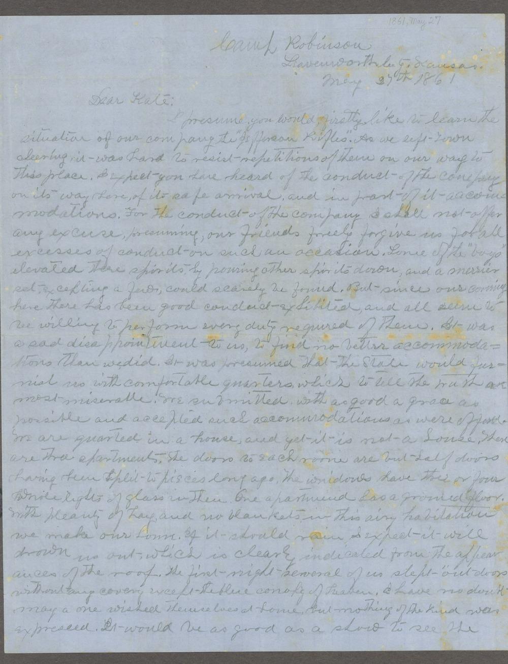 Lewis Stafford to Kate Newland correspondence - 8