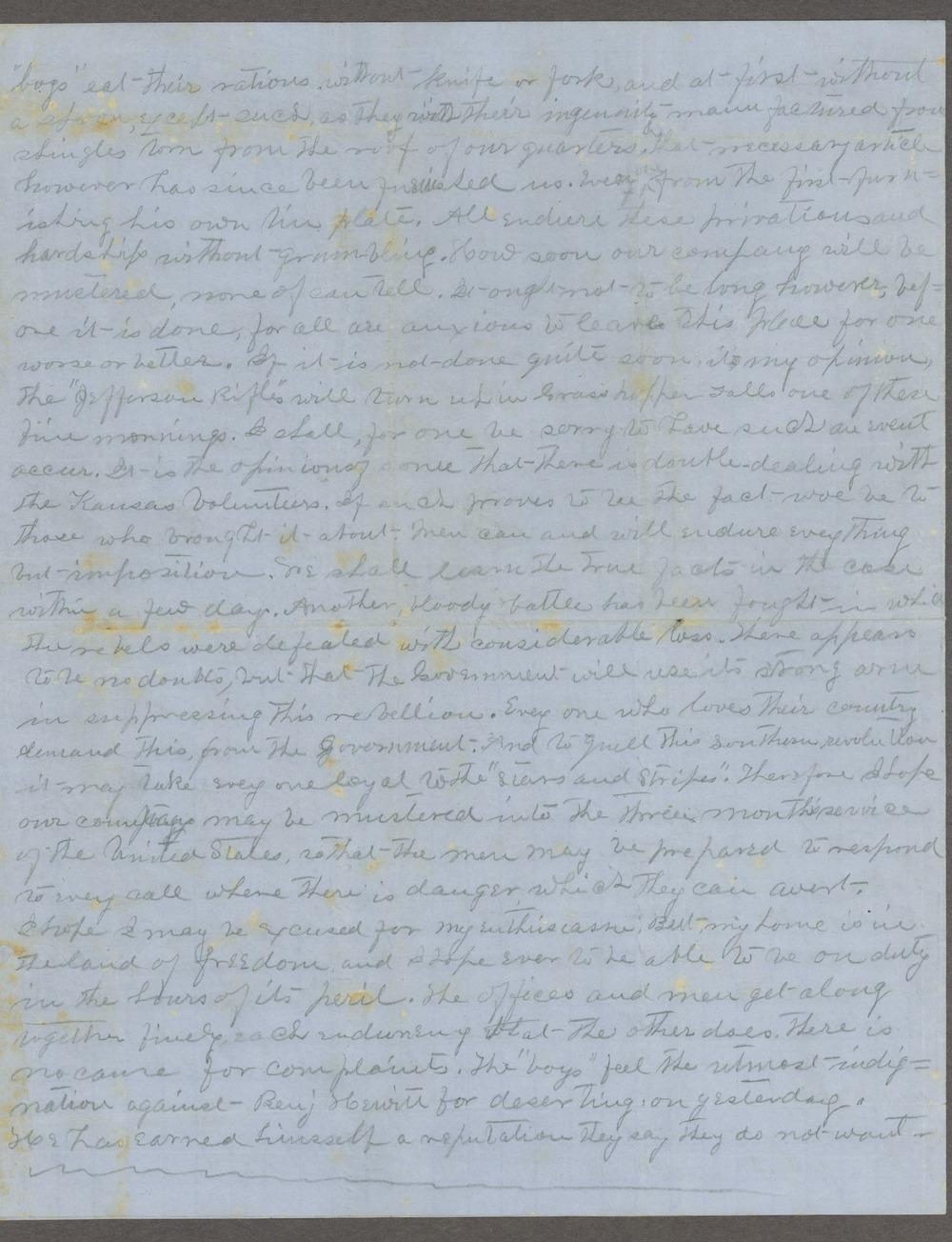 Lewis Stafford to Kate Newland correspondence - 9
