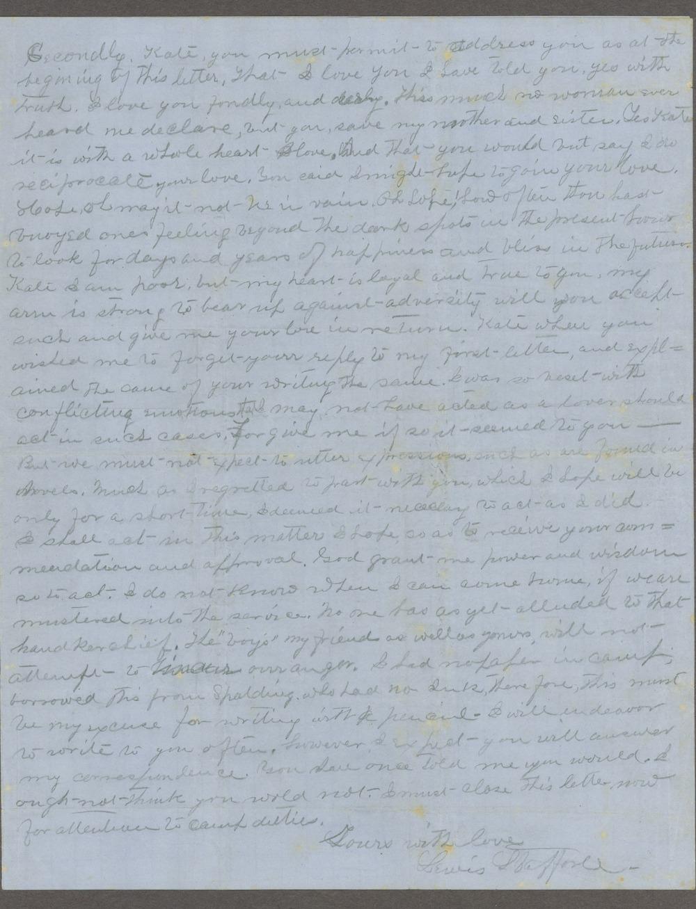 Lewis Stafford to Kate Newland correspondence - 10