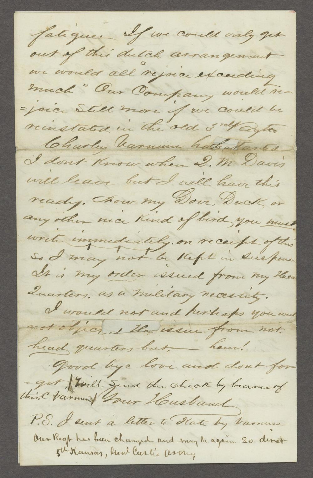 Joseph H. Trego correspondence - 6