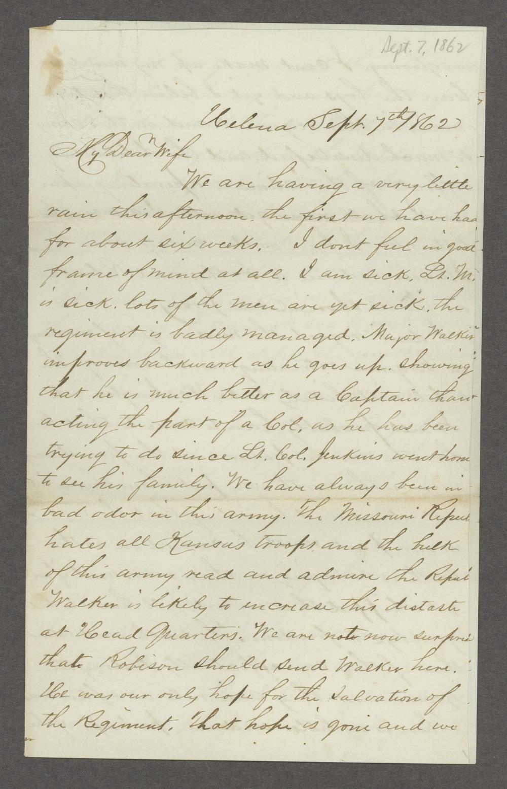 Joseph H. Trego correspondence - 7