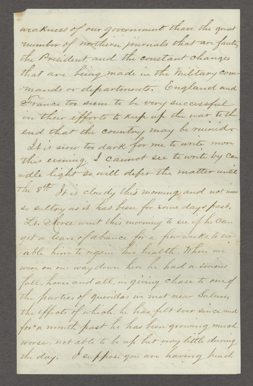 Joseph H. Trego correspondence - 9