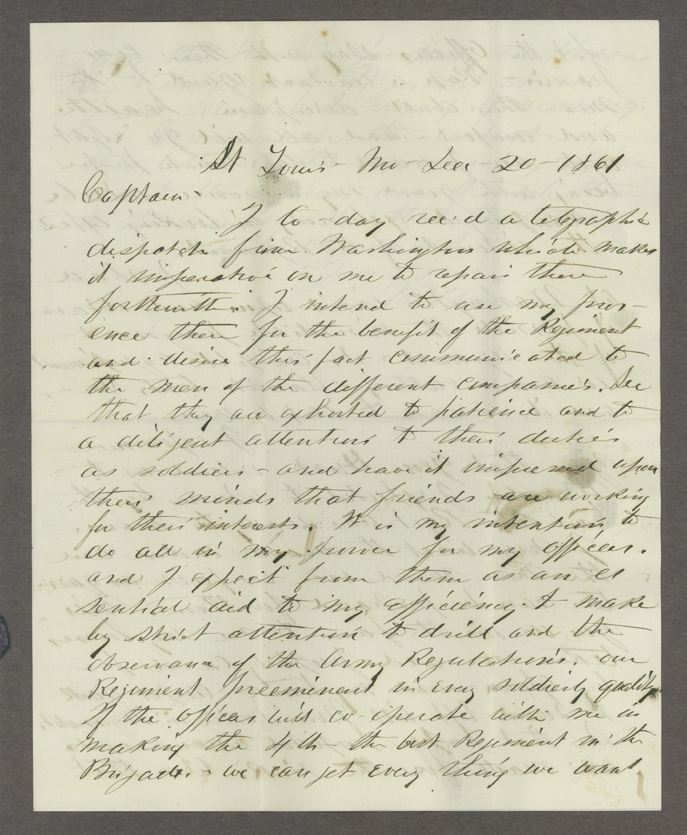 James Madison Harvey correspondence - 1 [Box 1 Folder 2]