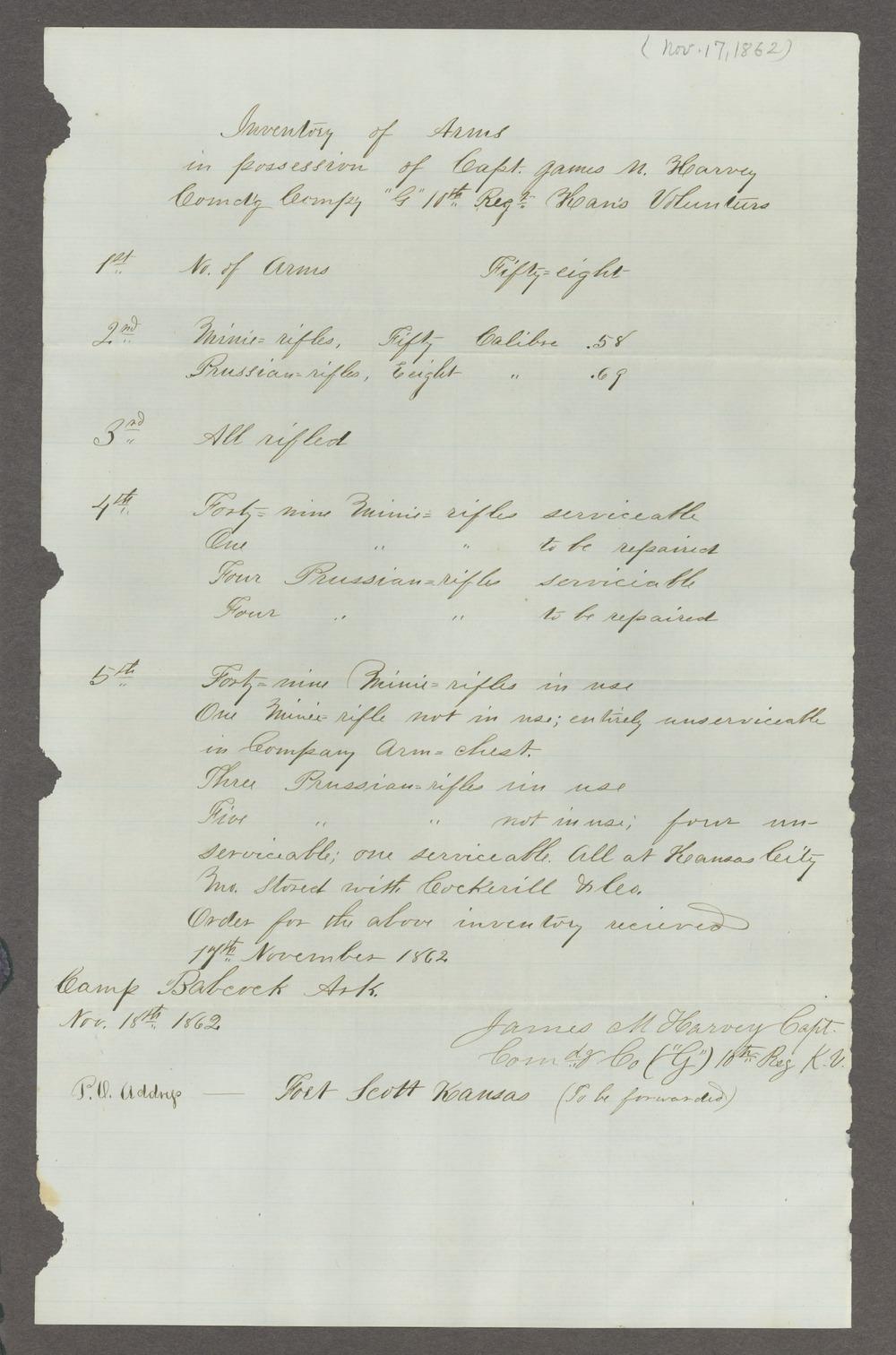 James Madison Harvey correspondence - 4