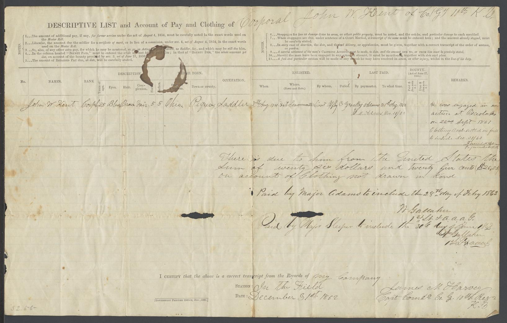 James Madison Harvey correspondence - 6