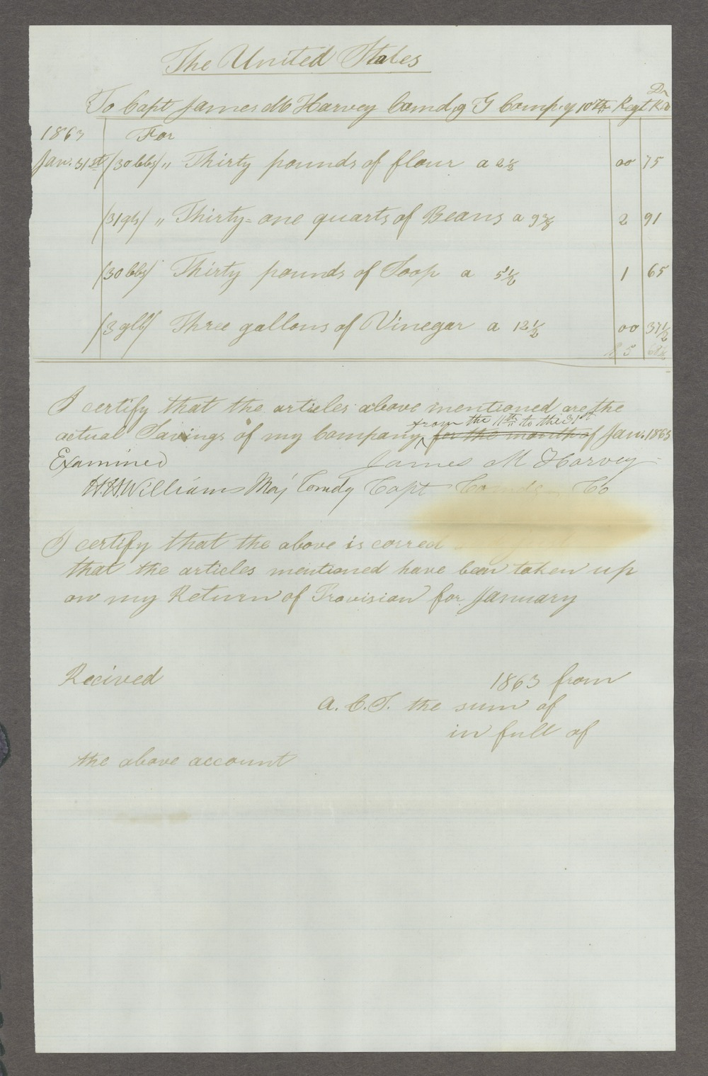 James Madison Harvey correspondence - 9