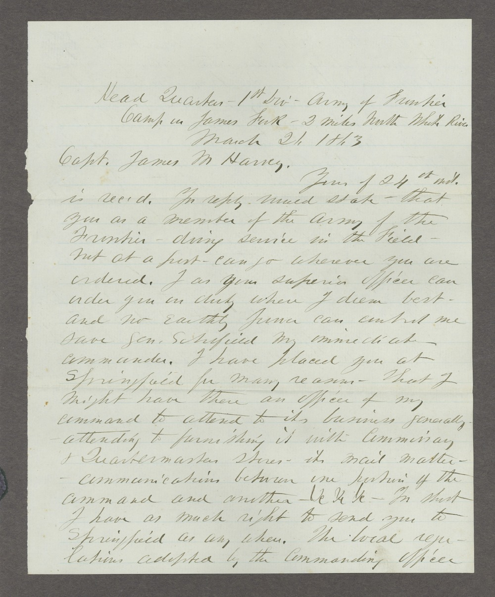 James Madison Harvey correspondence - 11