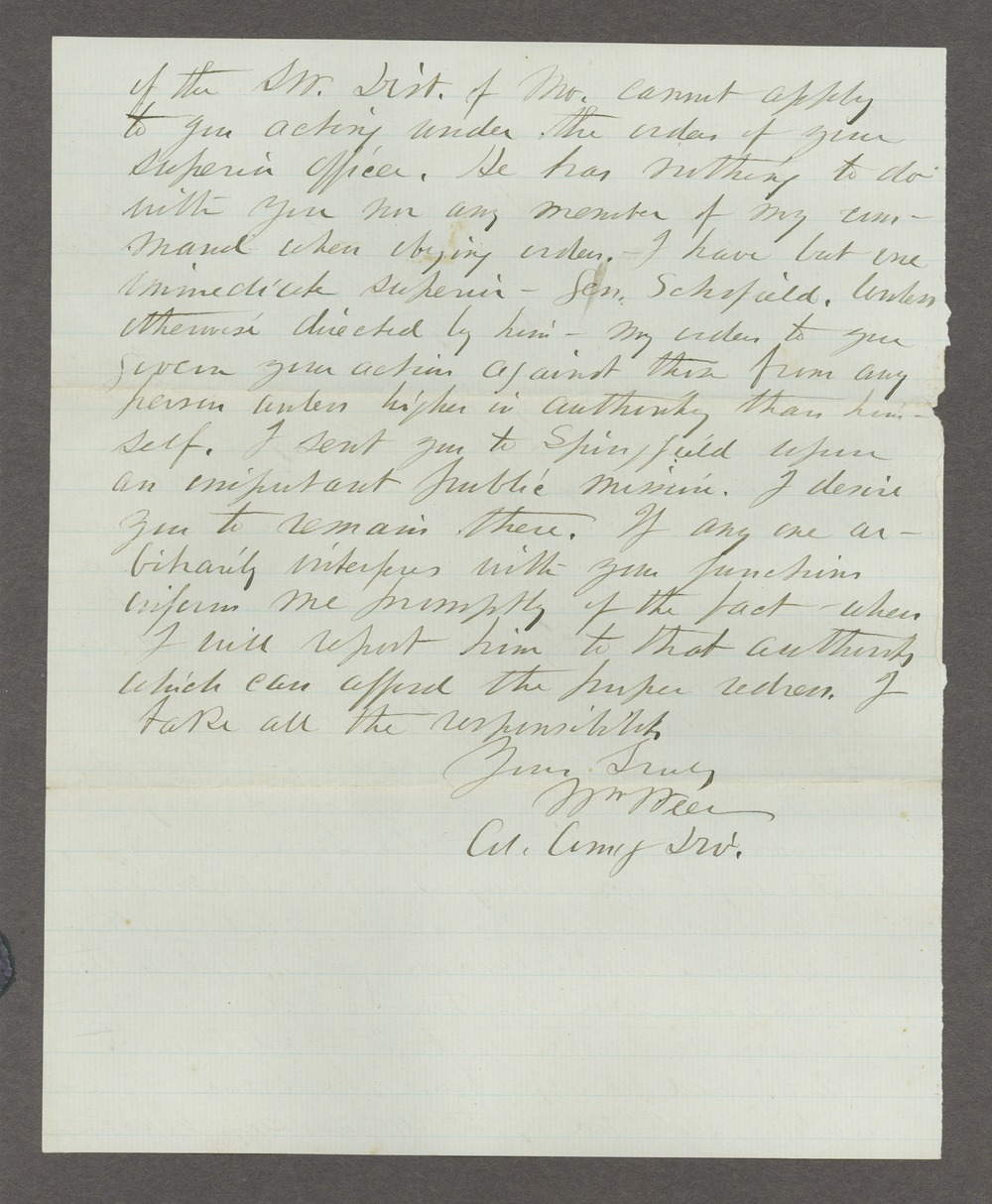 James Madison Harvey correspondence - 12