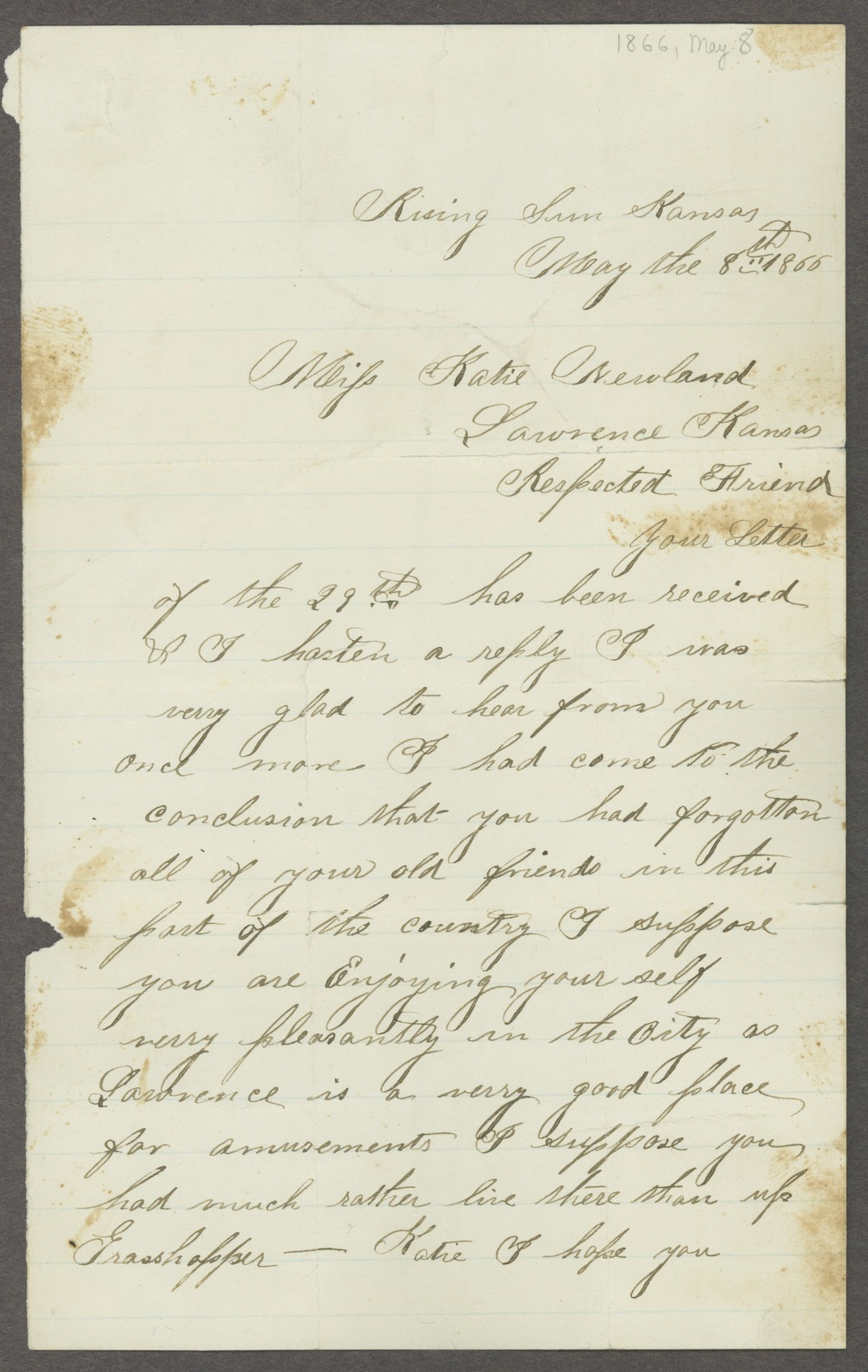 Letters to Kate Newland - 4