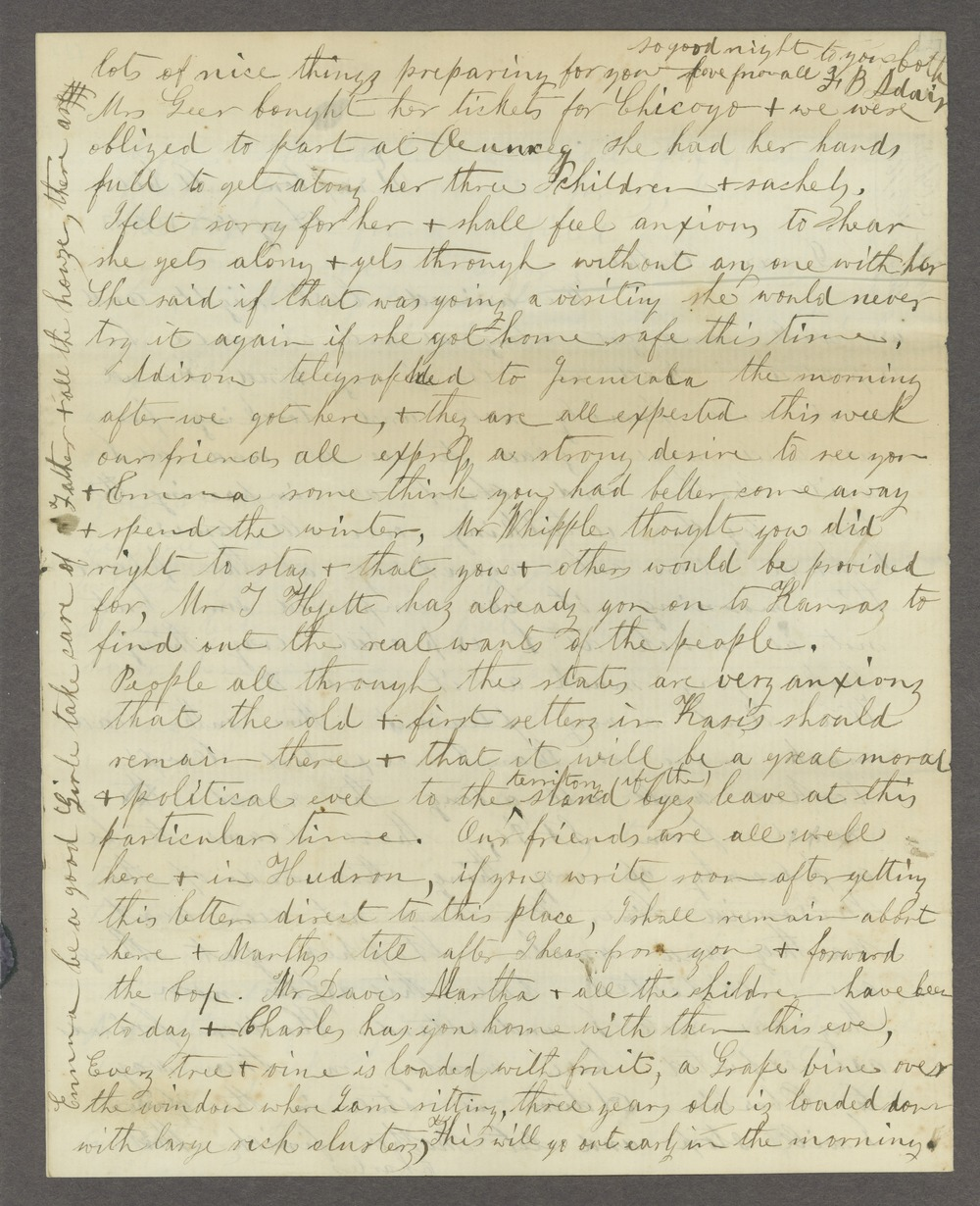 Correspondence between Samuel Lyle Adair, Florella Brown Adair, and their children - 2